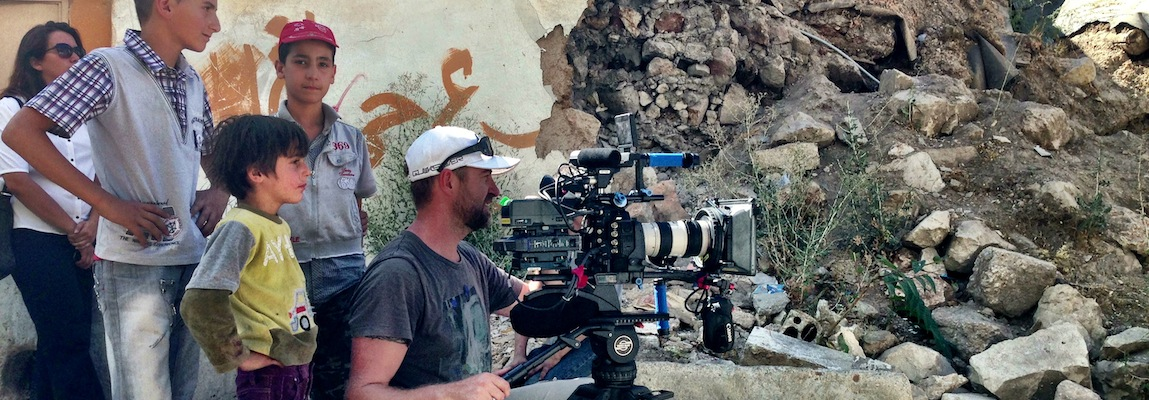 Justin Hanrahan, ACS  on location in Baalbek, Lebanon
